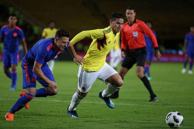 Colombian internationals James Rodriguez Santiago Arias