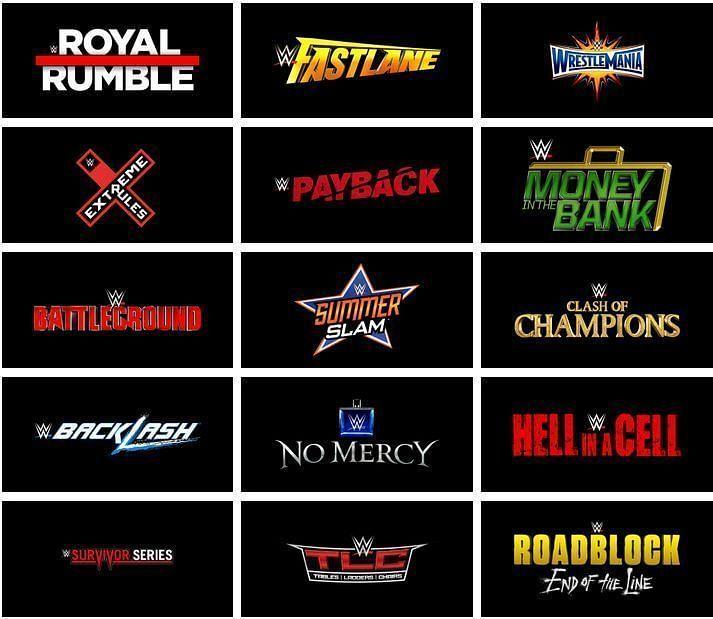 WWE PPV Calender 2020