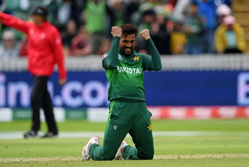 Mohammad Amir at the ICC Cricket World Cup 2019
