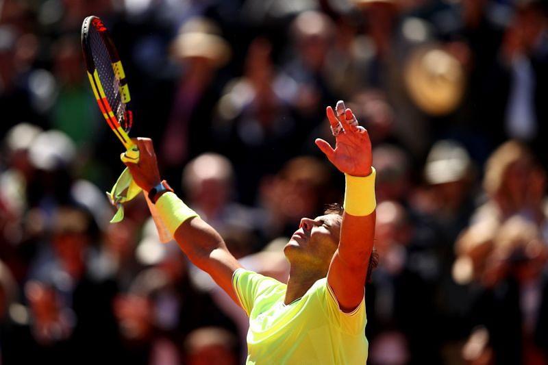 Rafael Nadal has won 91.79% career matches on clay