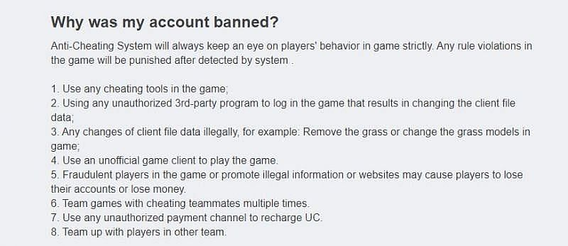 FAQ section of Tencent