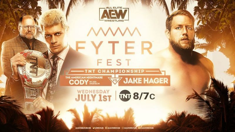 Cody defends the TNT Championship against Jake Hager.