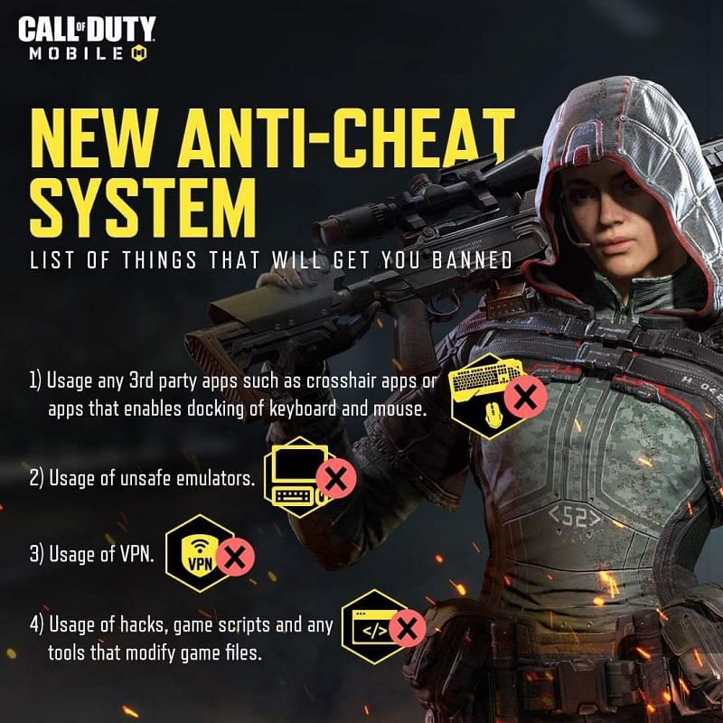 Anti-cheat measures laid by COD Mobile