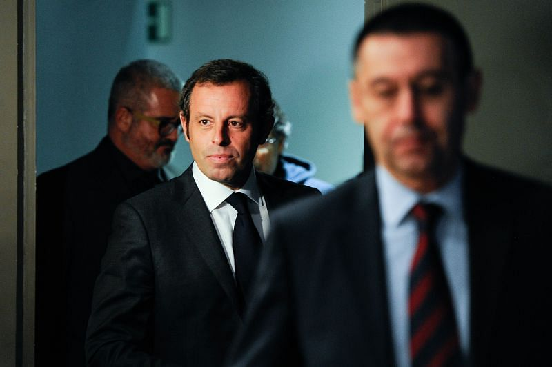 Sandro Rosell (left) shifted away from Barcelona's core values.