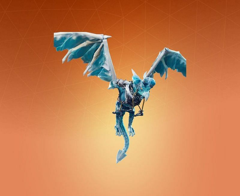 Frostwing Dragon glider in Fortnite. (Image Credit: Pro Game Guide)