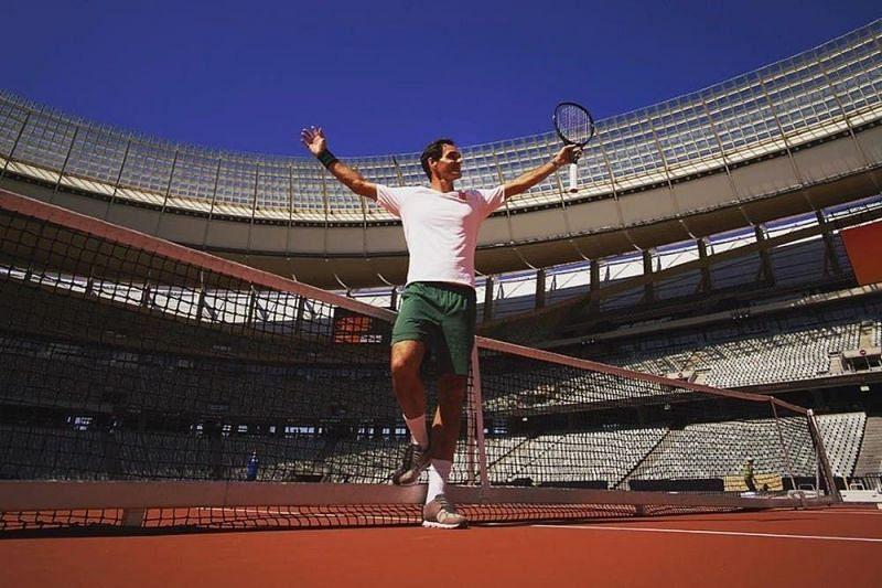 Roger Federer is enjoying the break from tennis