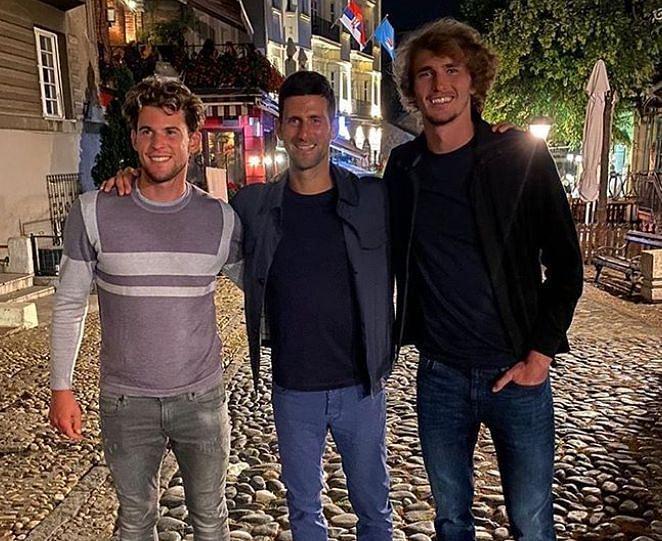 Nick Kyrgios thinks Dominic Thiem, Novak Djokovic and Alexander Zverev don