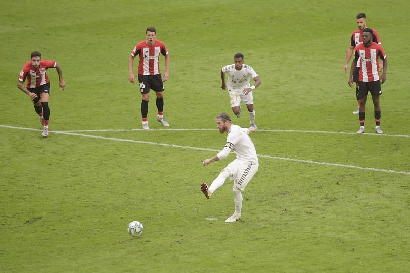 Sergio Ramos dispatched a flawless penalty to give Real Madrid the lead