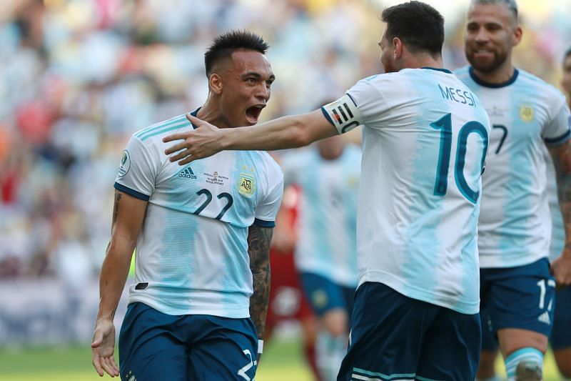 Lautaro Martinez is looking forward to playing alongside Lionel Messi