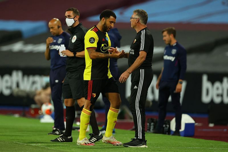 Deeney left the pitch against West Ham injured, but will be hoping to be fit for this one