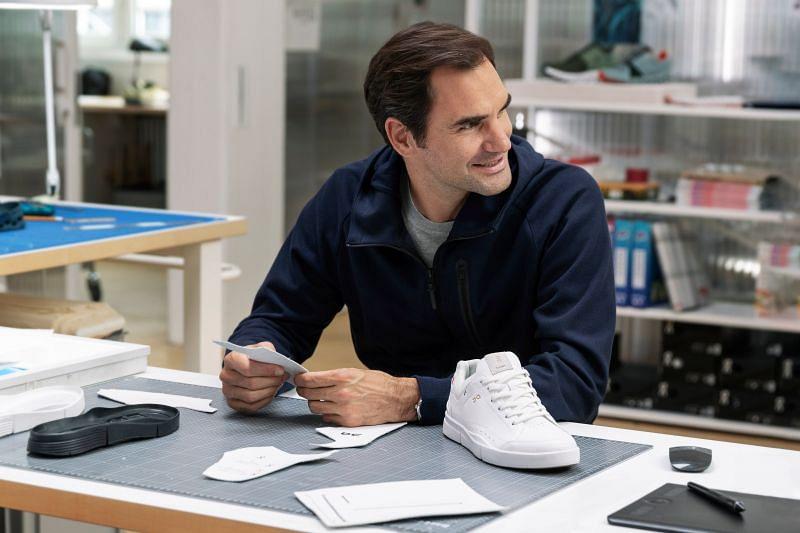 Roger Federer helping to design