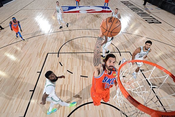 Steven Adams will like to carry the previous game