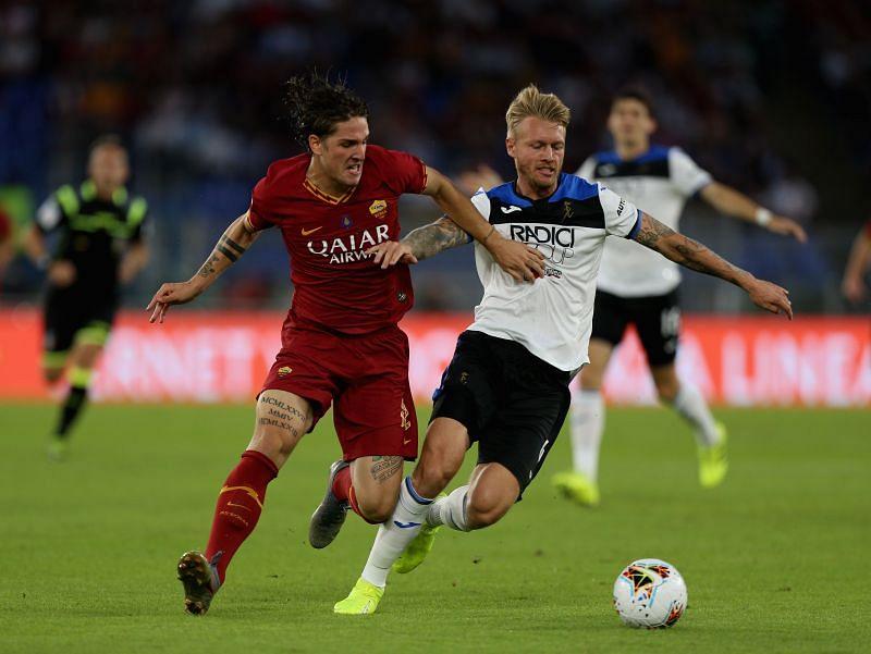 Nicolo Zaniolo for AS Roma in the Serie A