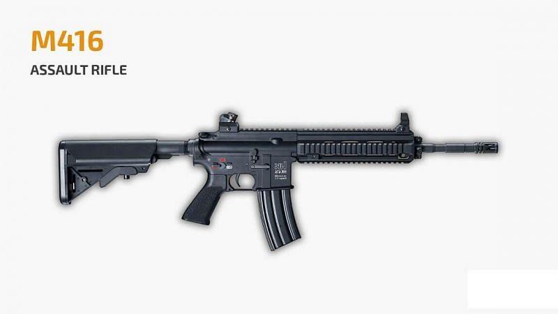 PUBG Mobile M416 gun (Image via Mobile mode gaming)