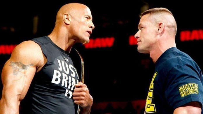 पूर्व WWE चैंपियन द रॉक और दिग्गज जॉन सीना