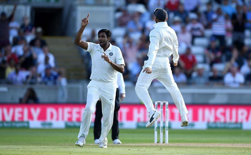 Ravichandran Ashwin celebrates a wicket