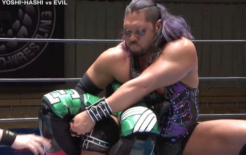 New Japan Cup Yoshi-Hashi vs. EVIL