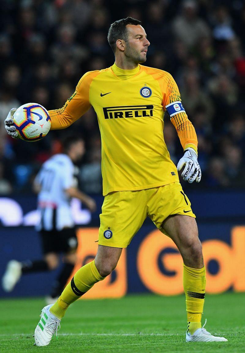 Samir Handanovic took over as Inter Milan  captain after the arrival of Antonio Conte..