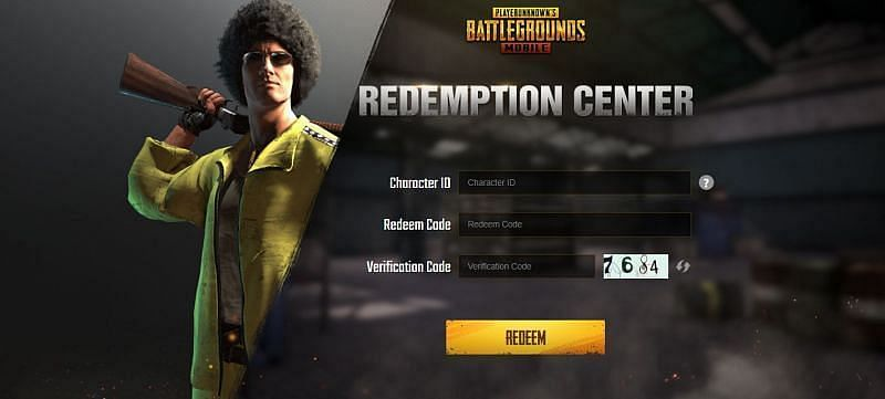 Official PUBG Mobile redemption center (Picture Source:PUBG Mobile)