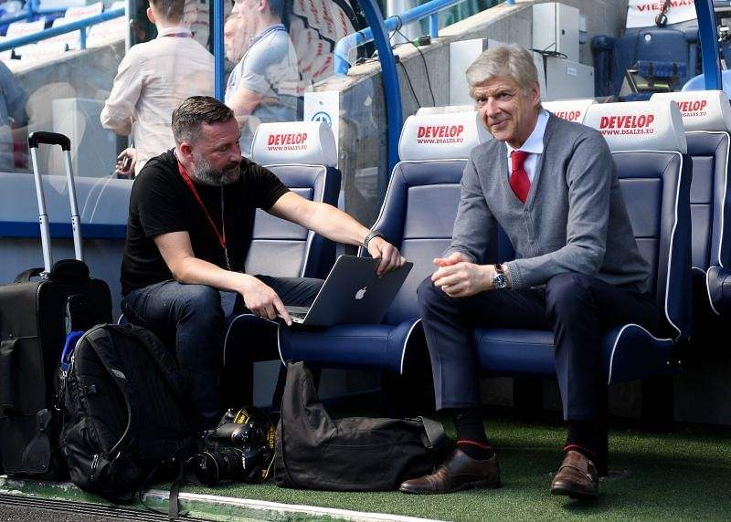 Arsene Wenger (right) liked his teams to play stylish, free flowing football with an emphasis on attack.