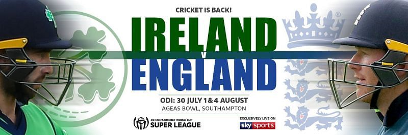 Ireland tour of England 2020 (Source: Cricket Ireland Twitter)