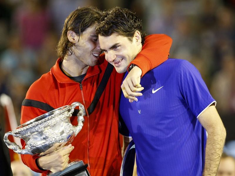 This still from Australian Open 2009 trophy ceremony that formed a part of history books