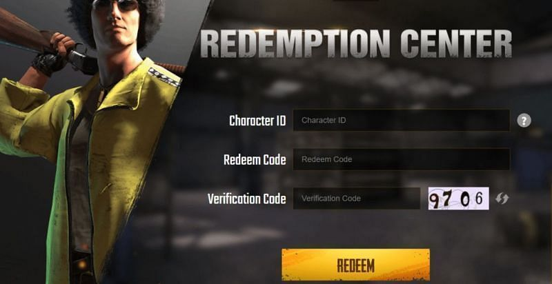 PUBG Mobile Redemption Center (Credits: PUBG Mobile)