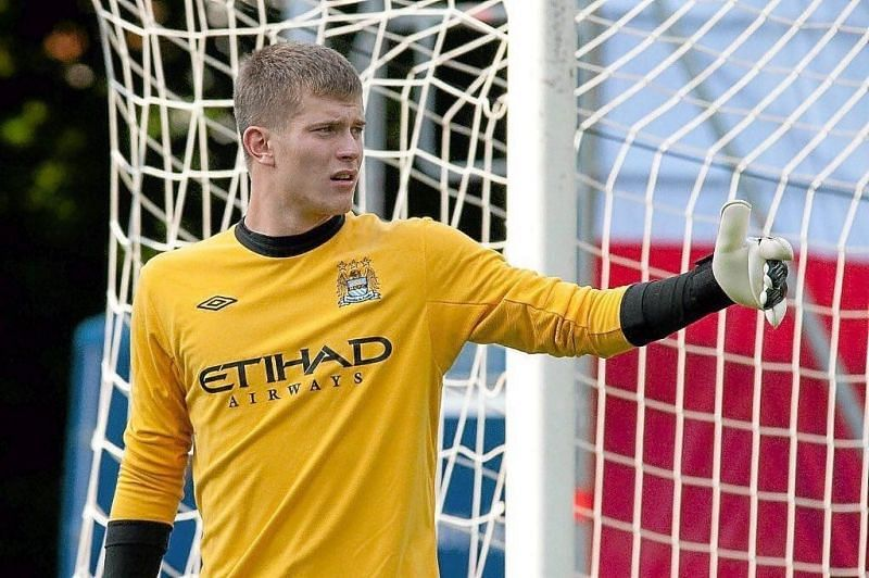 Loris Karius as a youngster during his time at Manchester City.
