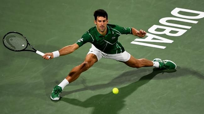 Novak Djokovic is known for doing crazy splits on the tennis court