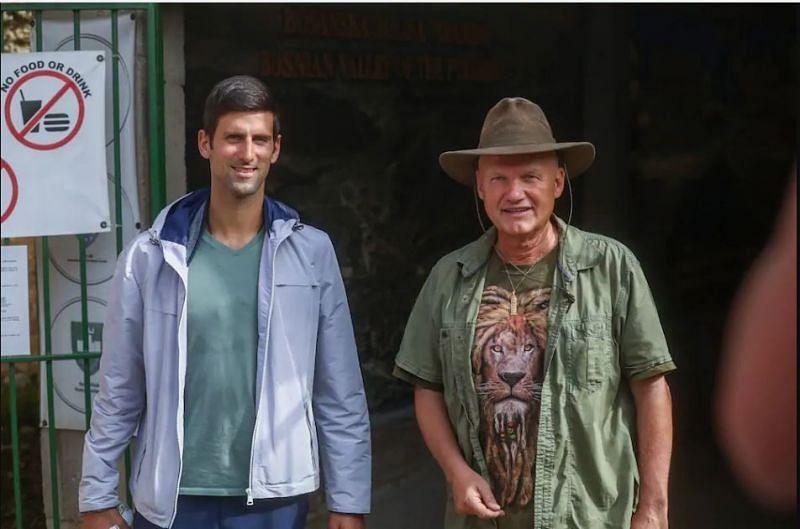 Novak Djokovic with Semir Osmanagic. Credits: Blick