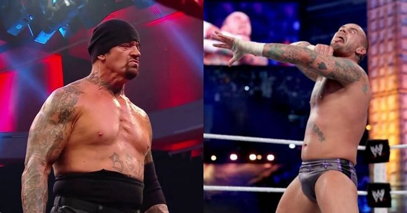 Undertaker and CM Punk.