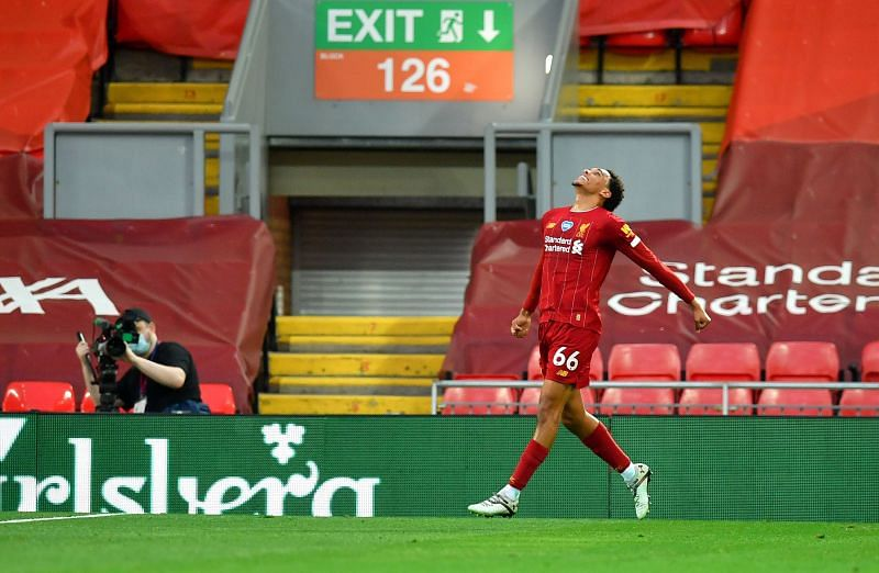 Alexander-Arnold scored and assisted for Liverpool