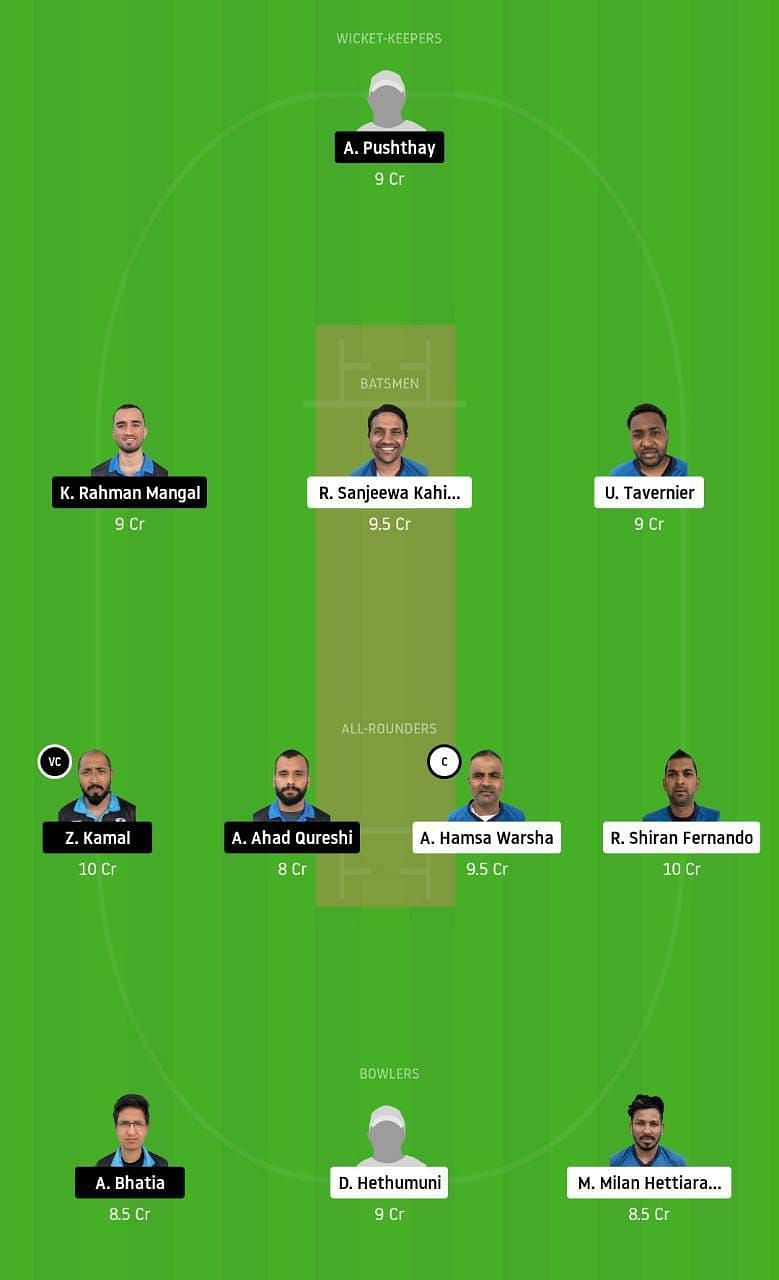 VCC vs HCC Dream11 Tips