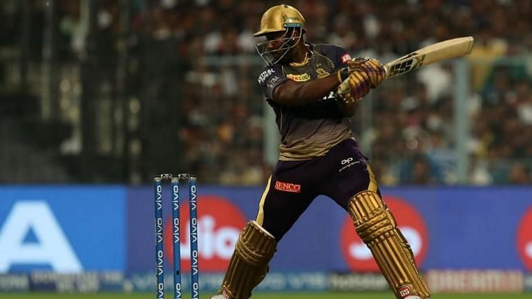 Andre Russell in action for KKR