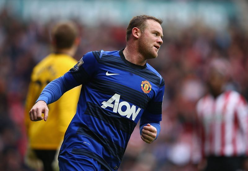 Wayne Rooney changed his position from a striker to an attacking midfielder during the latter half of his Manchester United career under David Moyes.