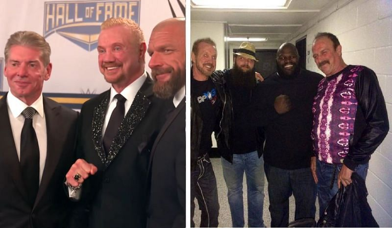 DDP and Jake Roberts have appeared in WWE, WCW, IMPACT Wrestling, and AEW