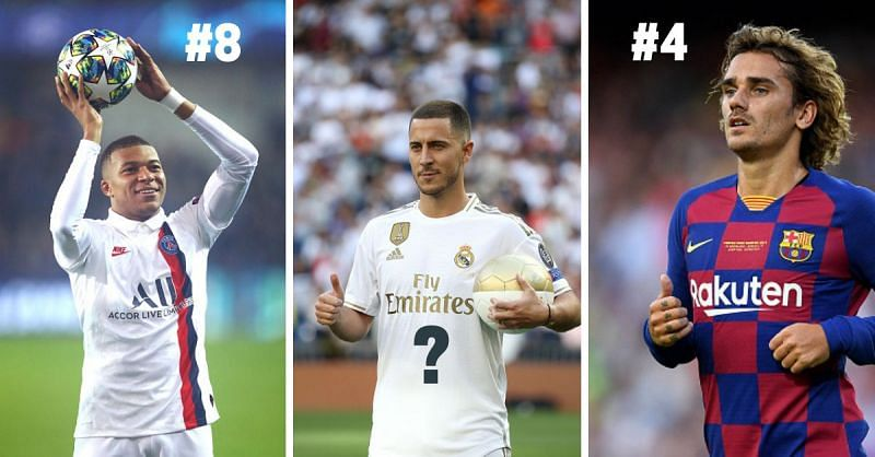 Mbappe, Griezmann, and Hazard are among the highest-paid footballers in the world