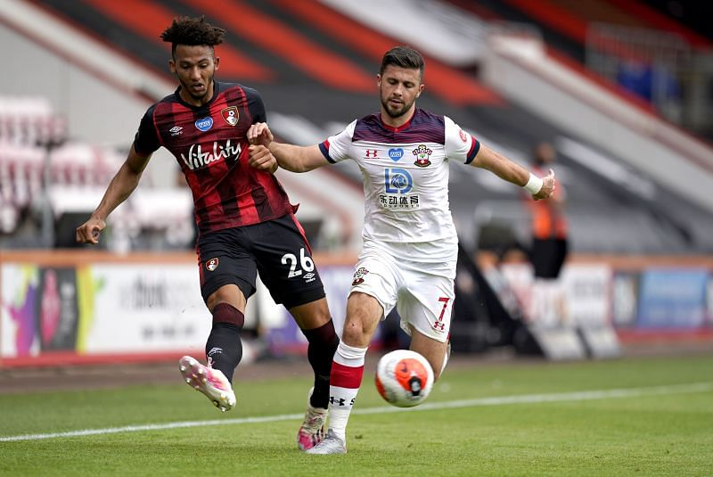 Lloyd Kelly in action against Southampton FC - Premier League