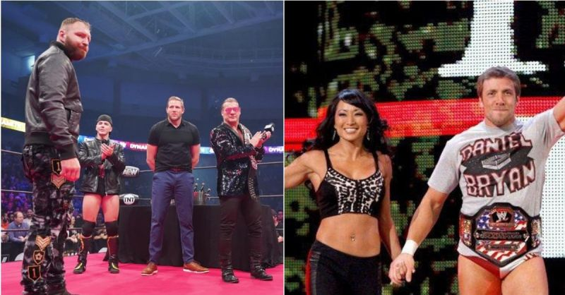 Jon Moxley and Chris Jericho; Gail Kim and Daniel Bryan