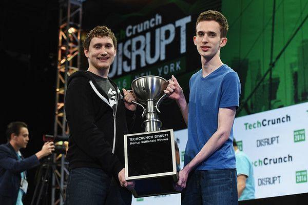 James Boehm and Matthew Salsamendi, after winning