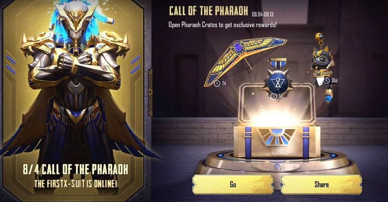 Call of the Pharaoh event (Picture Courtesy: PUBG Mobile)