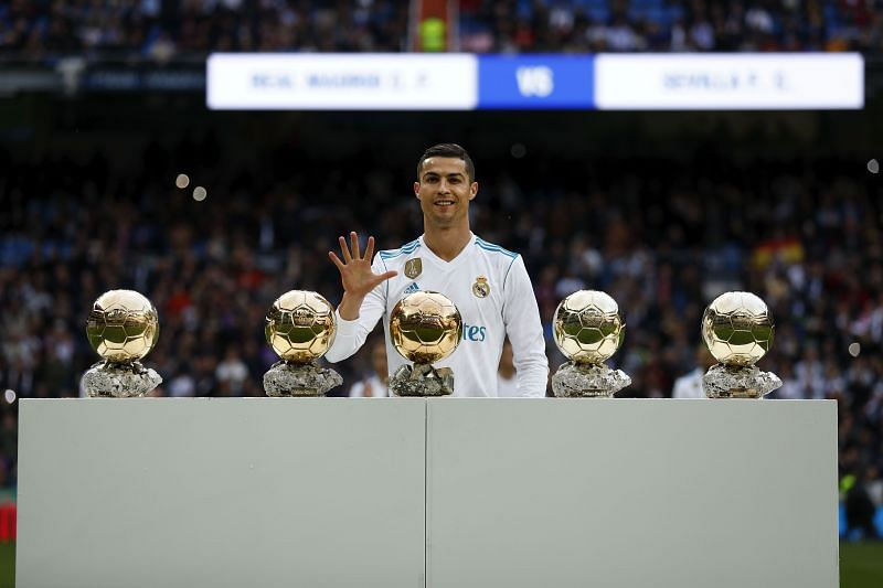 Ronaldo has won a whopping five Ballons d