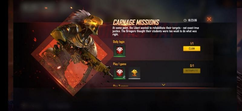 Daily Missions (Picture Source: Garena Free Fire)