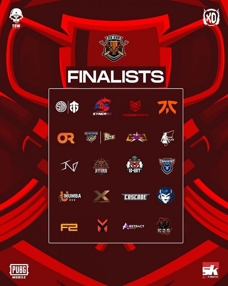 Xo Cup PUBG Mobilefinalists