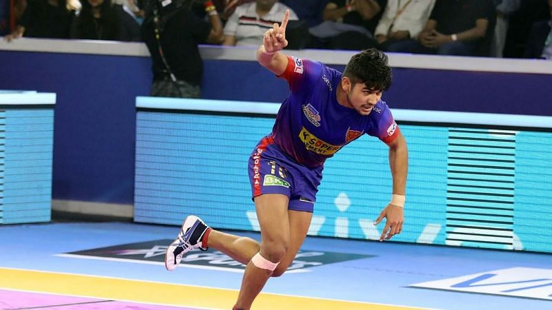 Naveen Kumar went past the 300-raid point mark for the first time in his PKL career.