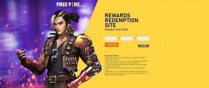 Free Fire redeem codes in July 2020