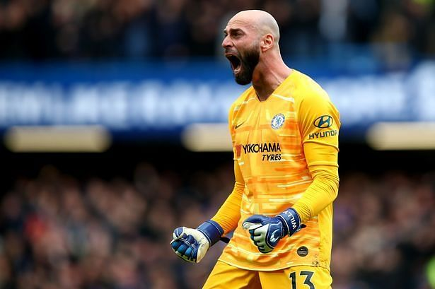 Willy Caballero was given the nod in goal ahead of Kepa Arrizabalaga