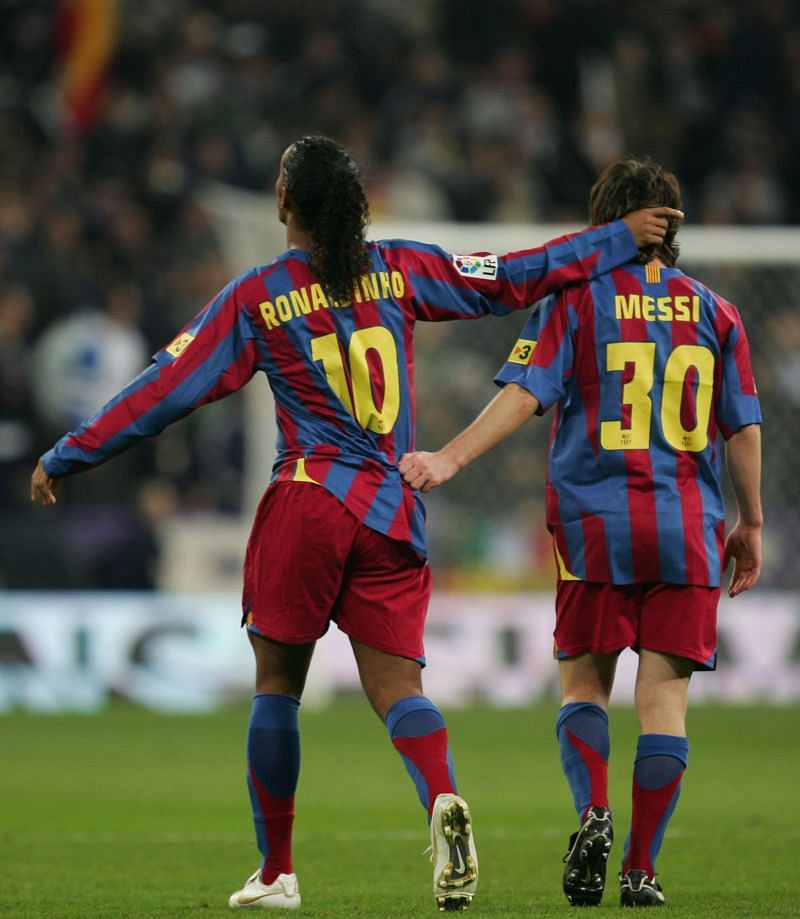 Ronaldinho and Lionel Messi weaved their magic together for Barcelona in the 2000s