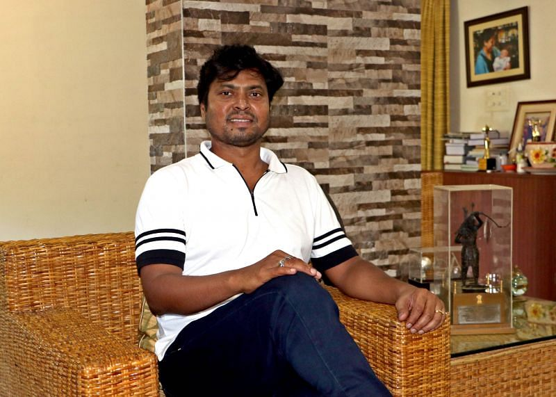 Dilip Tirkey at his residence in Bhubaneswar. (Photo- Shamim Qureshy)