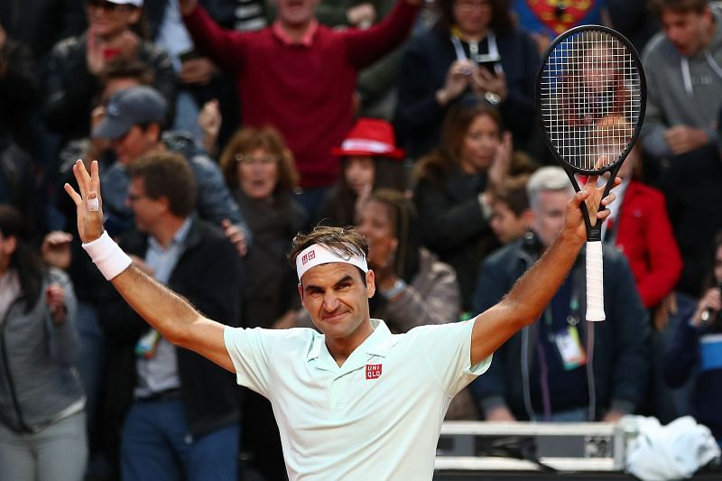Roger Federer reached the quarterfinals at Madrid and Rome in 2019